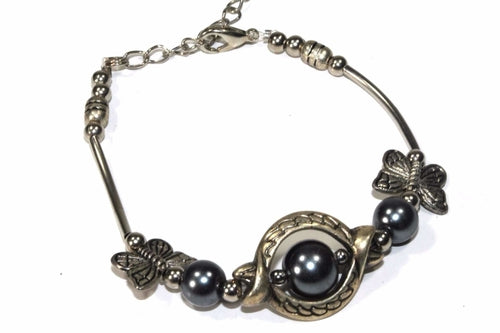 Olivia Antique Style Butterfly Trinket Bracelet