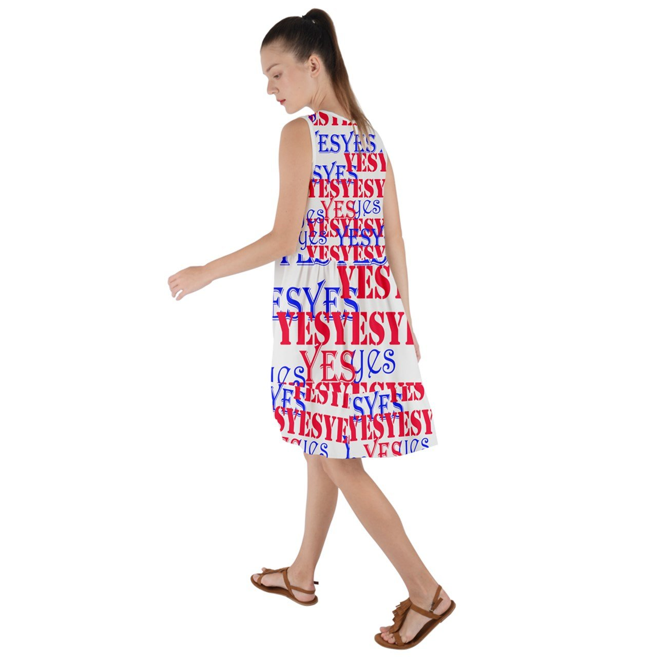 Stay Positive! The Yes Frill Swing Dress
