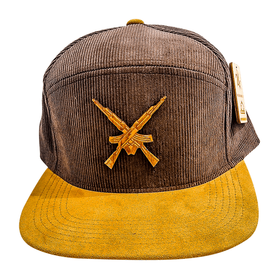 Cordoroy 7 Panel Bear Arms Hat