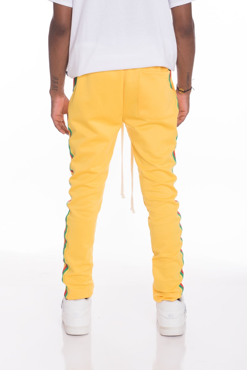RASTA TRACK PANTS- YELLOW