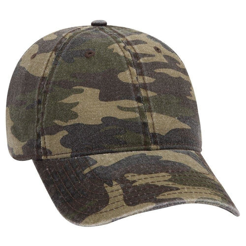 OTTO 6 Panel Low Profile Camouflage Garment Washed Cotton Twill