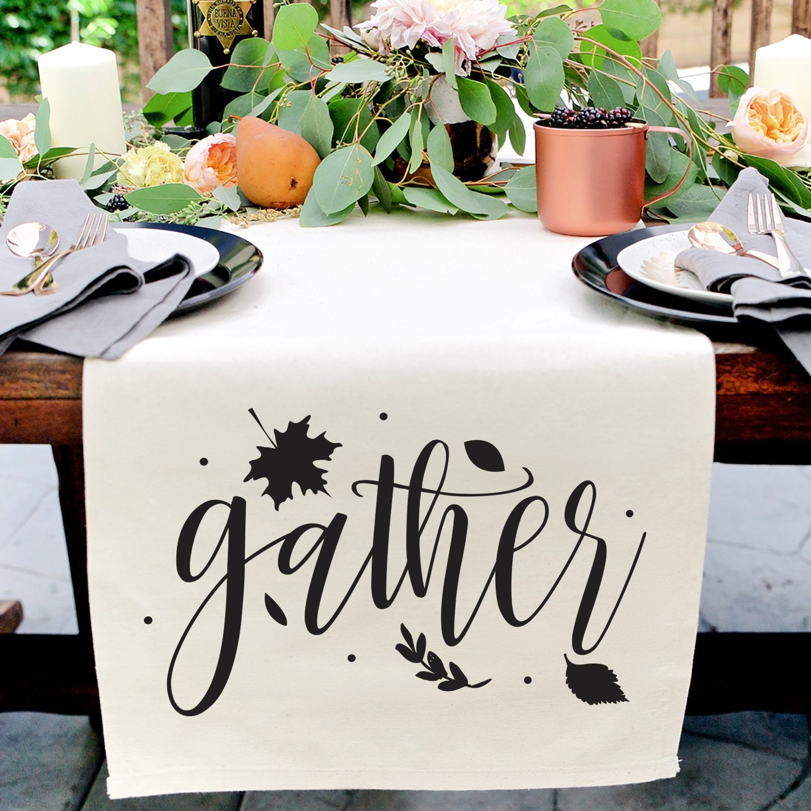 Gather Canvas Table Runner