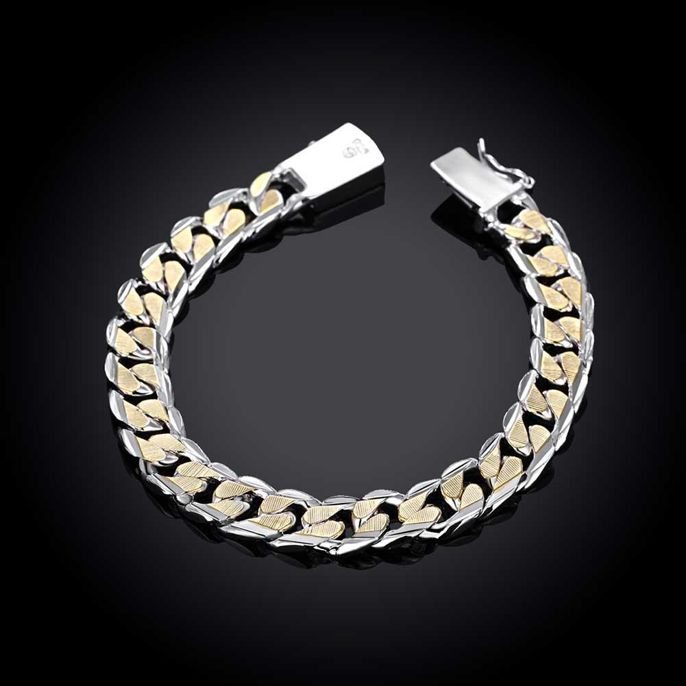 Father's Day Duo Toned 14K Gold Plating Italian Curb Link Chain