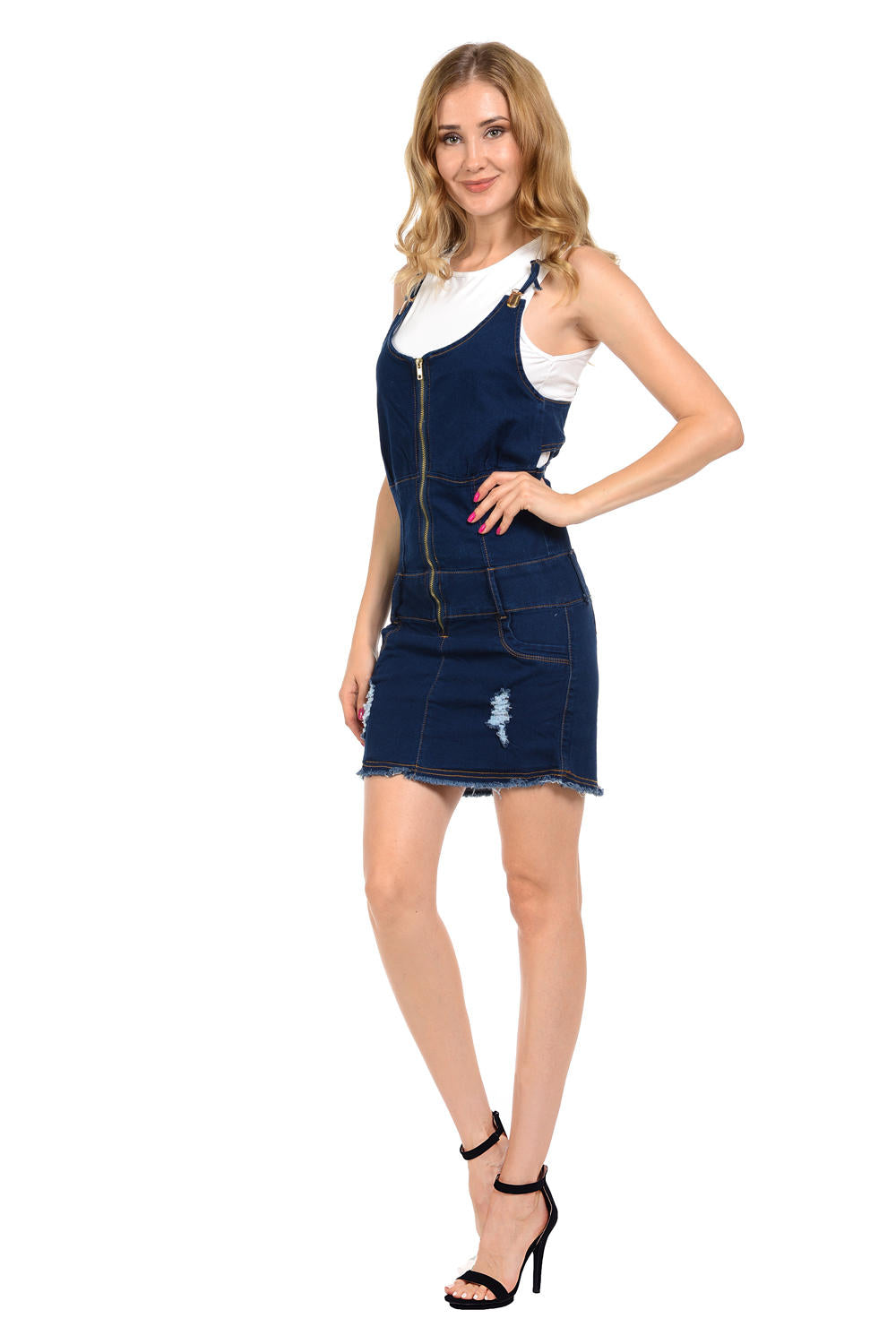 M.Michel Women's Denim Dress - Style A5194-R
