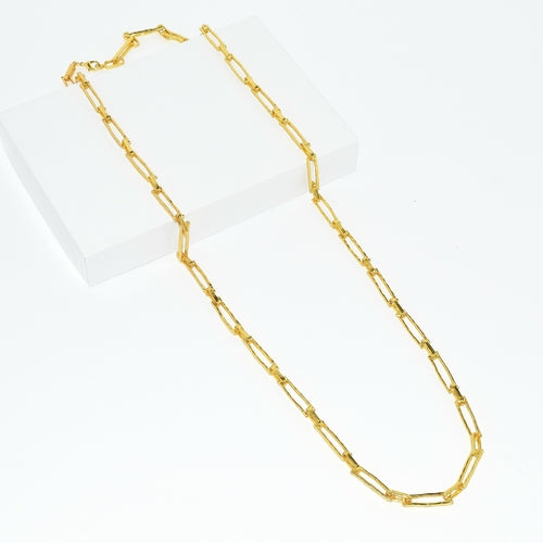 Elongated Link Long Necklace