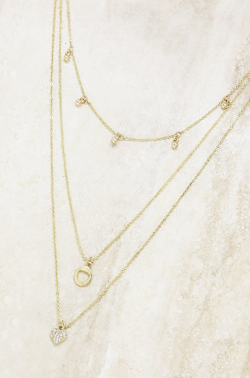 Love Struck 18kt Gold Plated Layered Necklace
