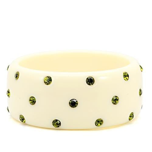 LO1904 N/A Resin Bangle with Top Grade Crystal in