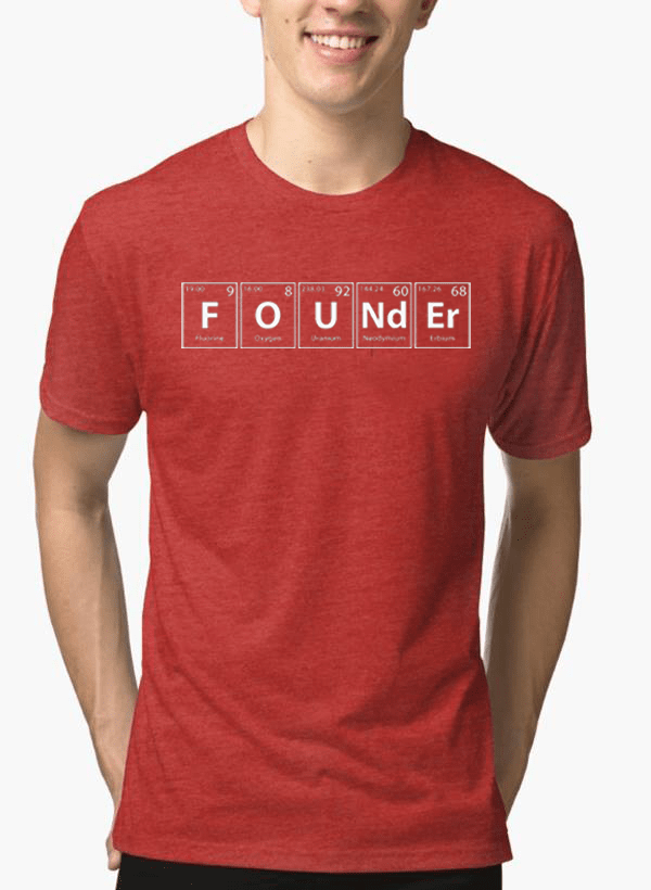 Founder Half Sleeves Melange T-shirt