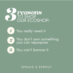 Before you shop our ecoshop, read this