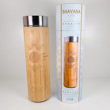 Load image into Gallery viewer, Bamboo Water Bottle - LOVE