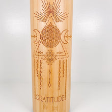Load image into Gallery viewer, Bamboo Water Bottle - GRATITUDE