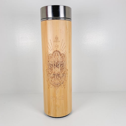 Bamboo Water Bottle - PEACE