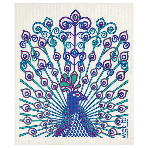 swedish cloth peacock