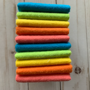 Reusable Cloth Wipes 10 Pack - Rainbow