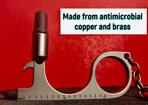 clean access keys are made of antimicrobial copper and brass