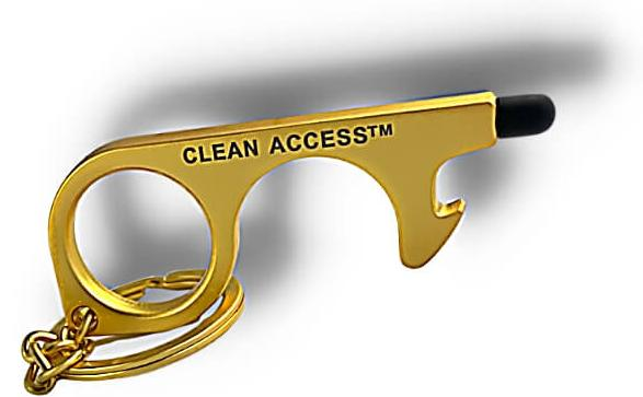 no touch tool, gold - clean access key