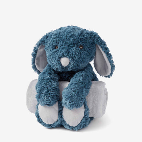 Teal Swirl Puppy Bedtime Huggie Plush Toy
