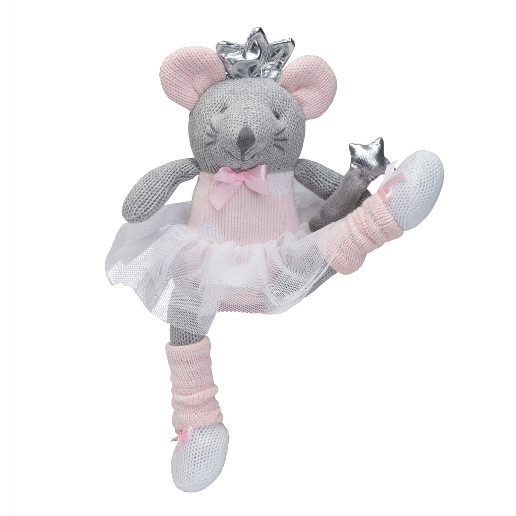 "10"" Princess Mousie Baby Knit Doll"