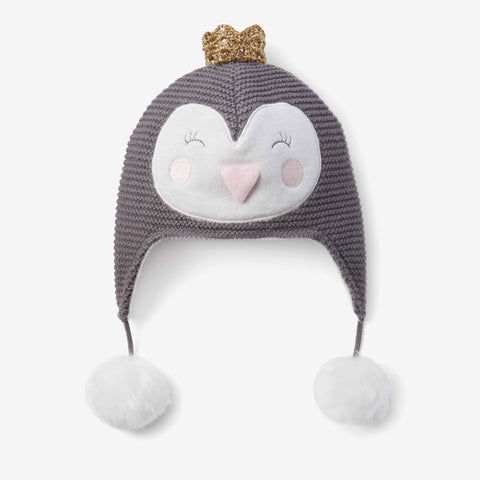 Princess Penguin Aviator Knit Baby Hat