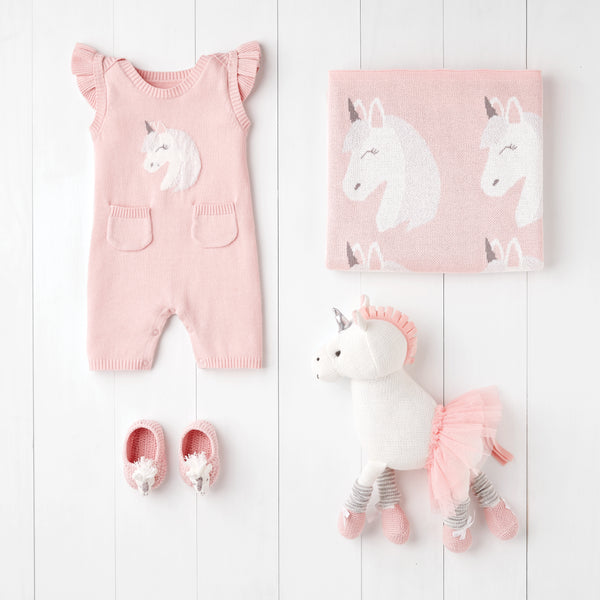 Luna Unicorn Shortall Baby Gift Set