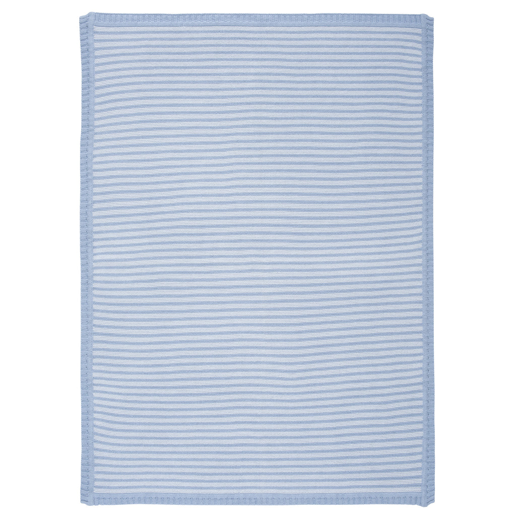 Bue Striped Knit Baby Blanket