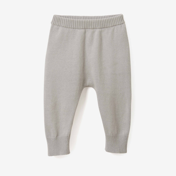 Gray Fine Knit Cotton Baby Pant