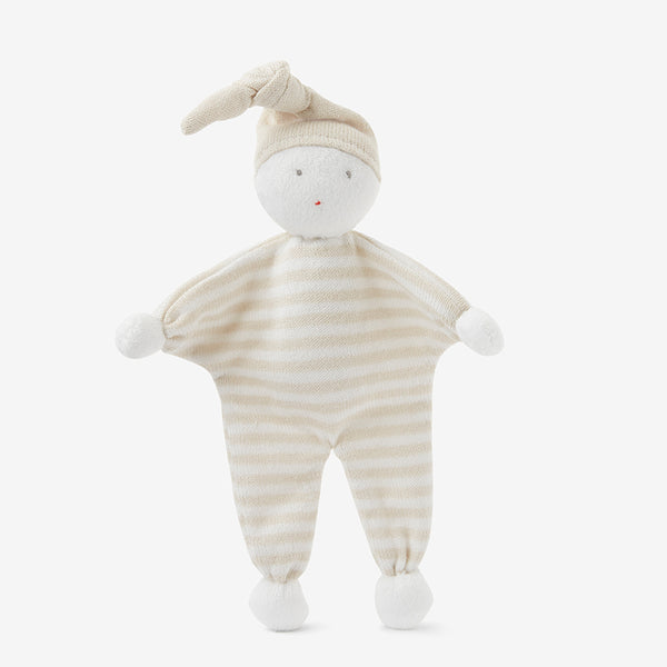 Bebe Wheat Stripe Knit Baby Doll