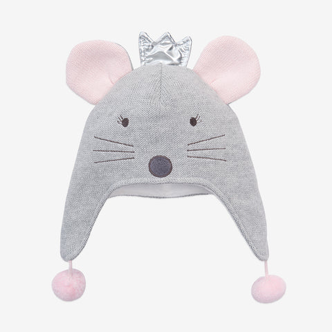 Princess Mousie Aviator Knit Baby Hat