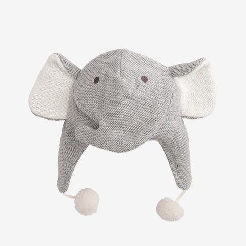 Elephant Aviator Knit Baby Hat