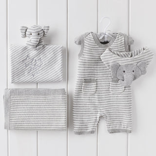 Gray Stripe Shortall Bundle
