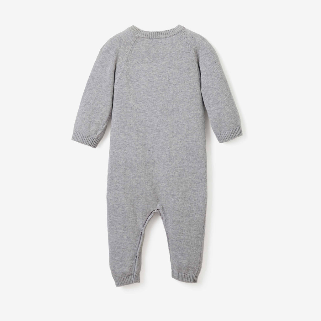 Holiday Penguin Cotton Knit Baby Jumpsuit