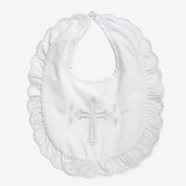Girl's Christening Bib