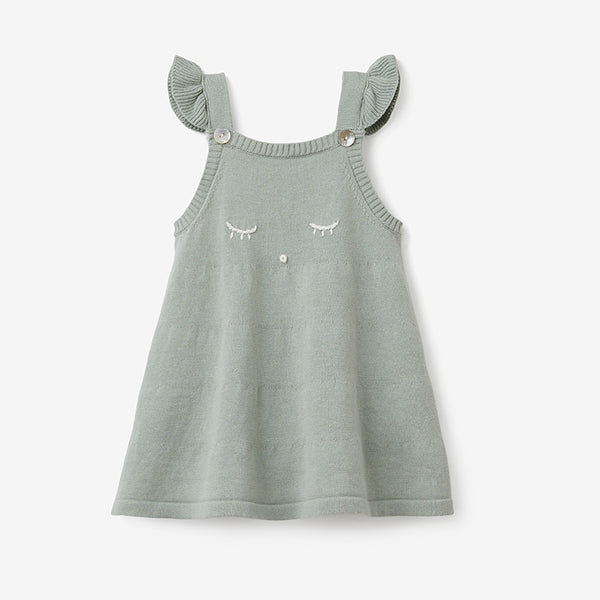 Sage Wink Fine Knit Baby  Dress