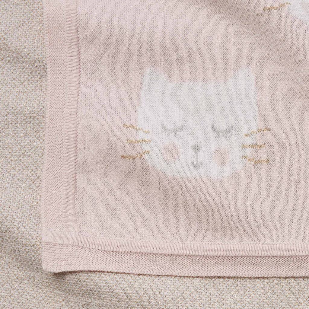Princess Kitty Cotton Knit Baby Blanket