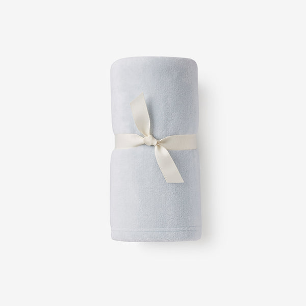 Pale Blue Simple Fleece Baby Stroller Blanket
