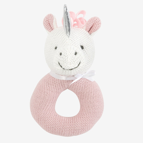 Luna Unicorn Baby Ring Rattle