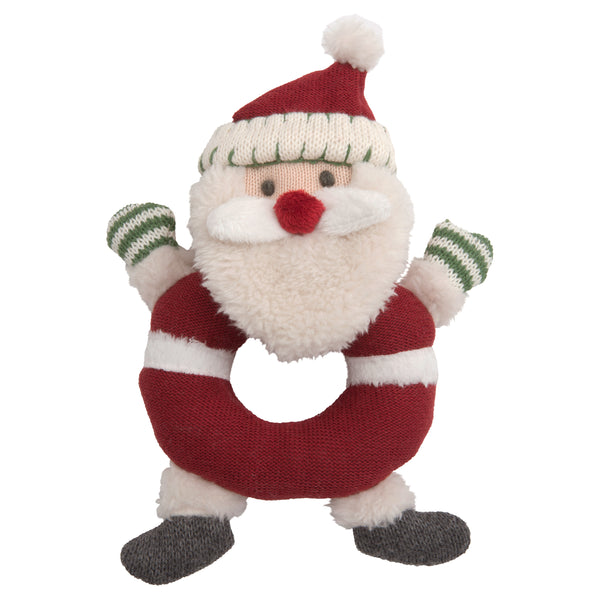 Santa Claus Baby Ring Rattle