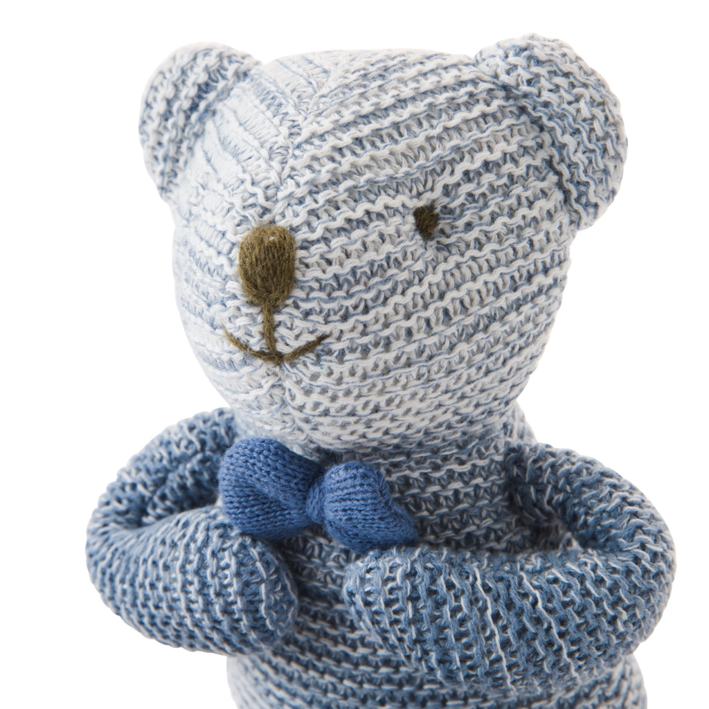 Blue Ombre Bear Knit Doll