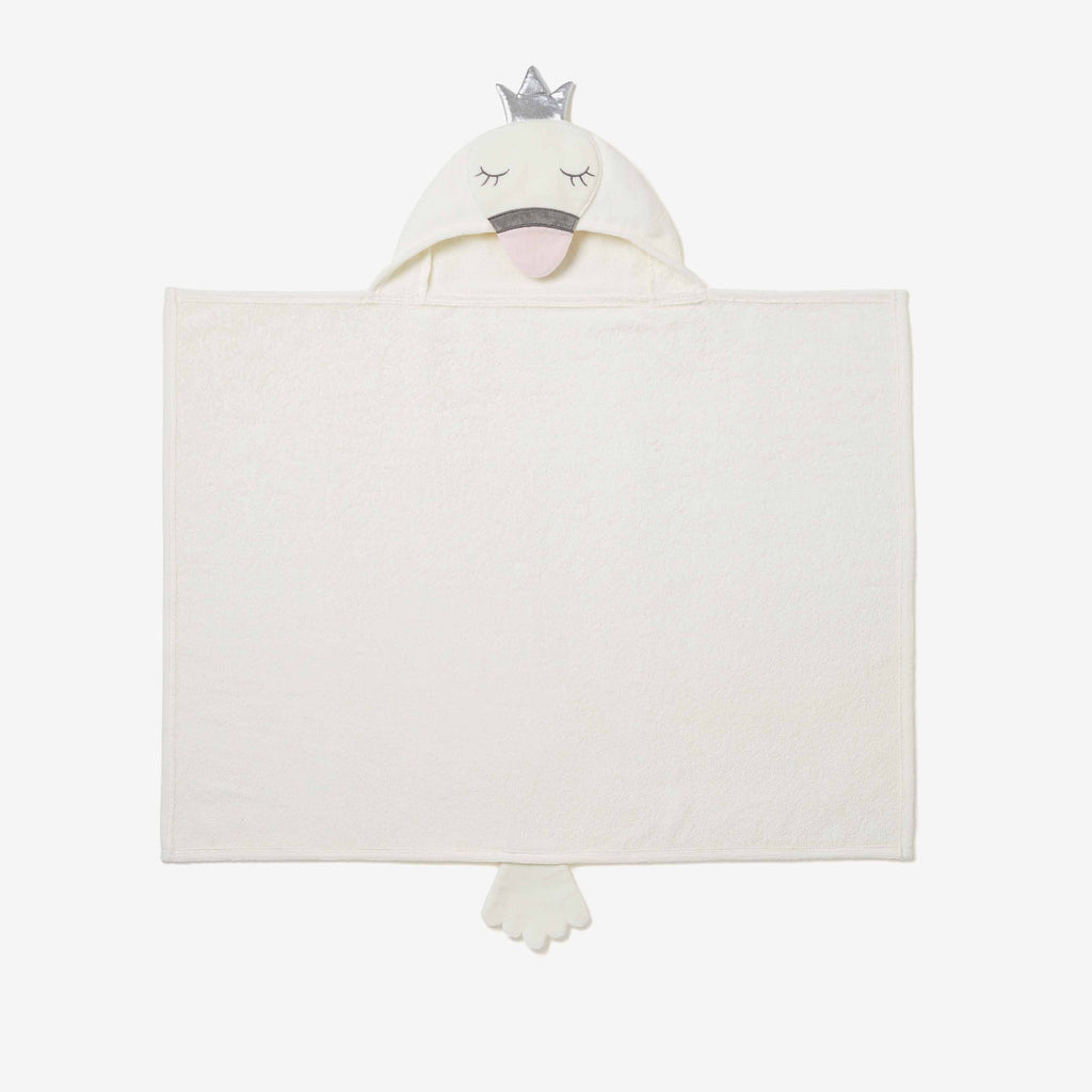 Swan Hooded Baby Bath Wrap