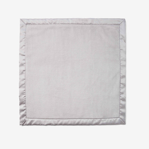 Gray Coral Fleece Baby Security Blanket