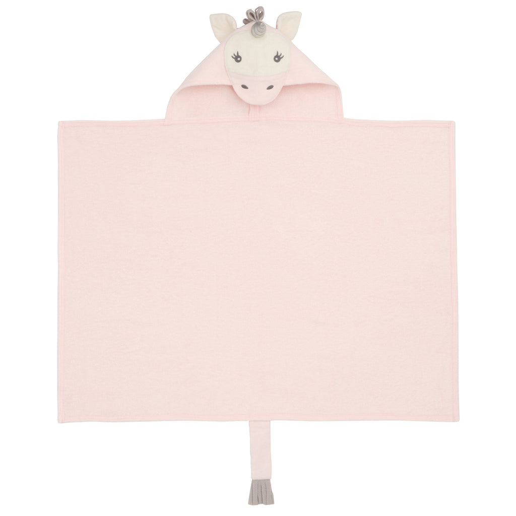 Pink Unicorn Hooded Baby Bath Wrap