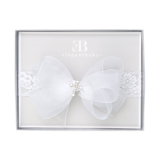 Christening Baby Girl Headband