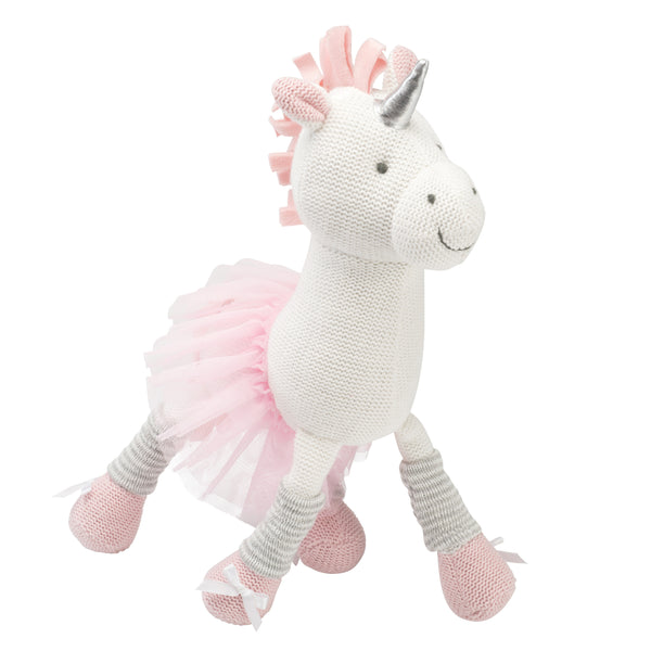 "10"" Luna Unicorn Baby Knit Doll"