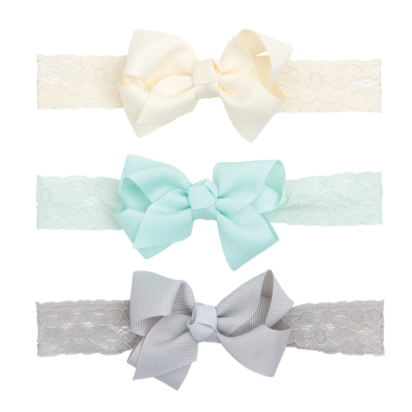 Sky Lace Baby Girl Headband 3 Pack