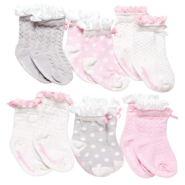 Socks. Peek-a-Boos. 6 Pk.
