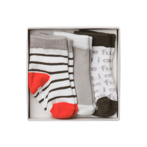 Unisex Organic Cotton Baby Socks 3 Pk