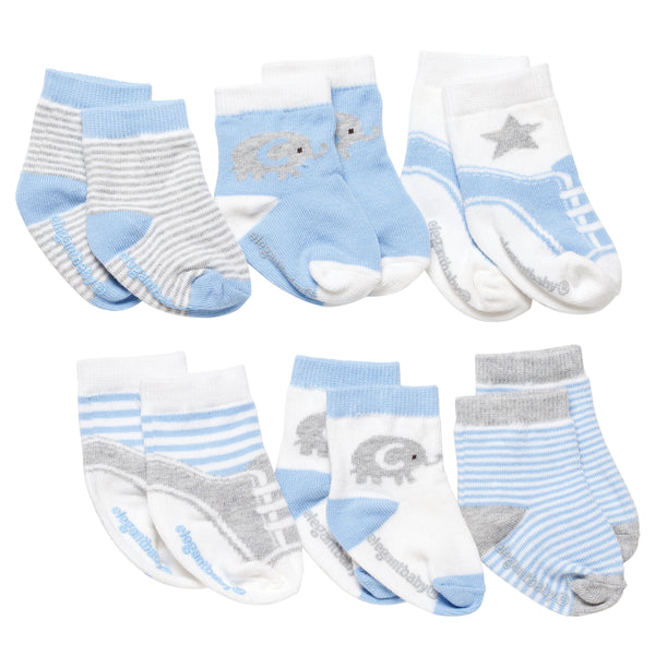 Socks. Cutie Blues. 6Pk