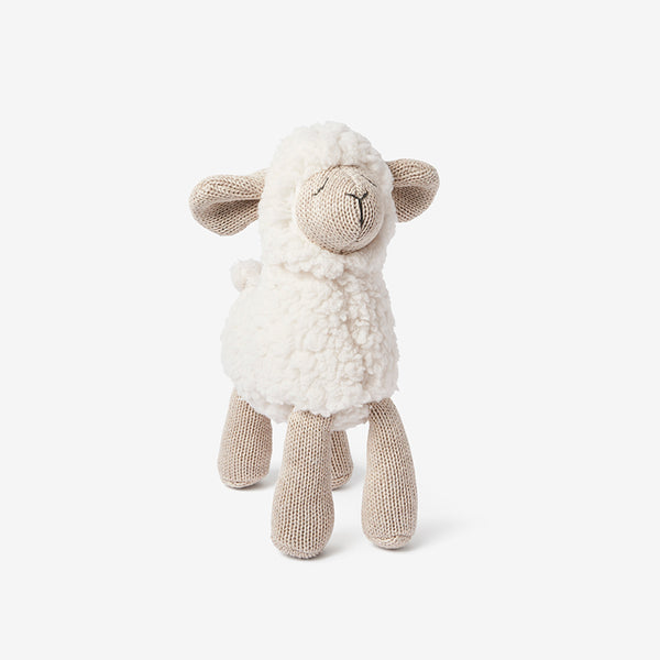"10"" Wheat Lamb Baby Knit Toy"