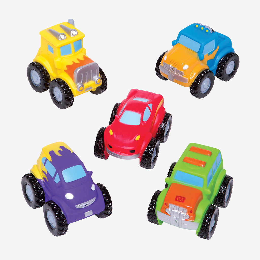 Monster Truck Party Squirtie Baby Bath Toys