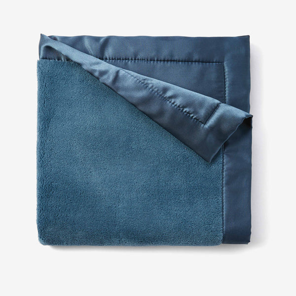 Dark Teal Coral Fleece Baby Security Blanket